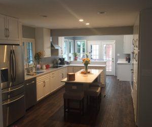 Custom Kitchen Renovation With Granite Counter Tops Custom Island Custom Cabinets Stainless Steel Appliances And Hardwood Floors