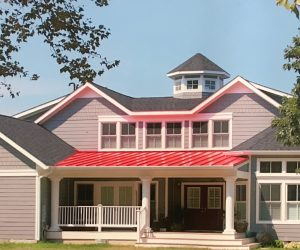 House on Eastern Shore of Maryland with New Gray Siding Replace