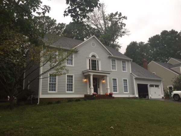 House with new vinyl siding replaced by Bohan Contracting