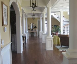 Main Hall From Kitchen, Open Floor Plan Concept