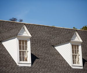 Shingle Roof With Two Dormer Windows After Roof Replacement-min
