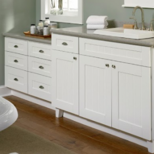 Storage Vanities In Grey Counter With White Cabinets For Small Bathroom Remodeling Tips To Maximize Space Blog