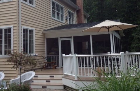Outside Sun Room Porch Remodel