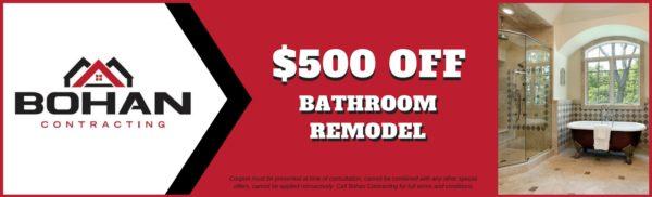 Bathroom Remodel Coupon - Bohan Contracting