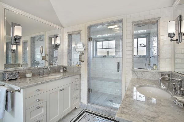 Master Bathroom Remodel With Luxury Shower and Granite Countertops